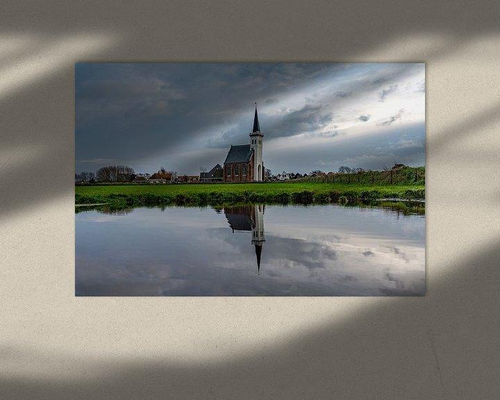 Sfeerimpressie: Texel Den Hoorn overdag spiegel effect door waterkolk van Texel360Fotografie Richard Heerschap