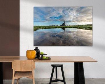 Texel Den Hoorn overdag spiegel effect door waterkolk van Texel360Fotografie Richard Heerschap