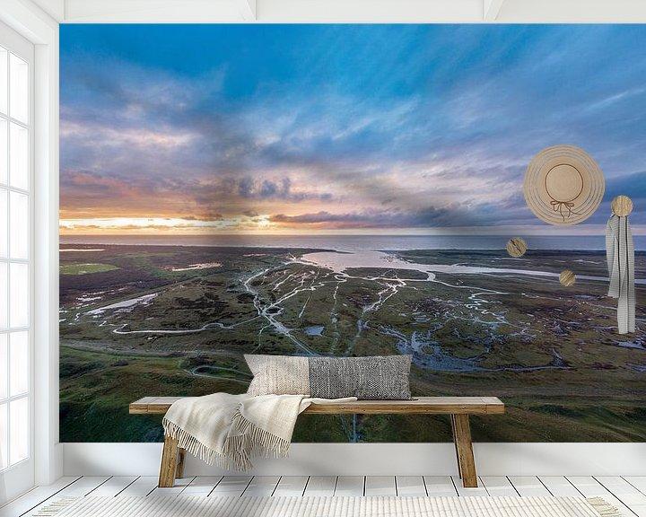 Sfeerimpressie behang: Slufter Texel na storm Bella van Texel360Fotografie Richard Heerschap