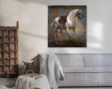 Ein Pferd, Schimmel, Anthony van Dyck, 1641