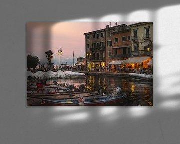Petit port en Italie au lac de Garde