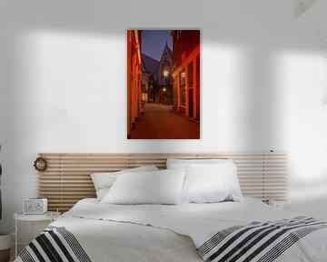 Amsterdam, de Oude Kerk tijdens lockdown van Michiel Dros