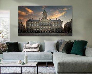 Zonsondergang in Amsterdam van Jimmy Sorber