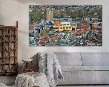Überblick über die Innenstadt von Leeuwarden von den Achmeatoren aus gesehen von Gert Bunt