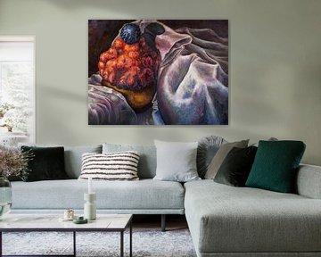 ''I'm Loving It!'' 150x200cm. Olieverf op doek 150x200cm. van Jop Cornelis