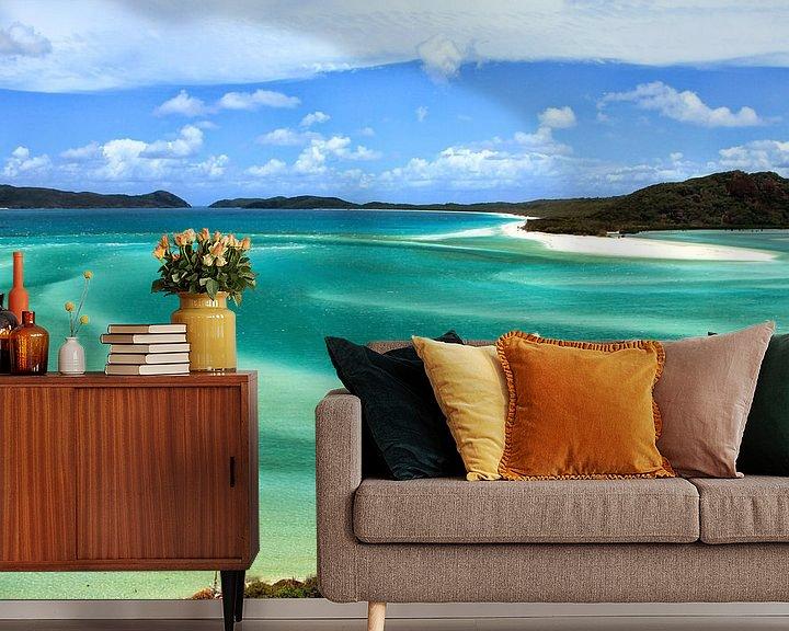 Beispiel fototapete: Die perlweißen Strände der Whitsunday Islands von Daphne de Vries