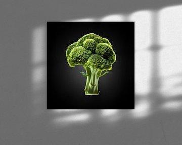 Food-Broccoli op zwarte achtergrond van Everards Photography