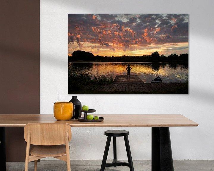 Sfeerimpressie: Schitterende zonsondergang bij meer in Vuren van Chris Heijmans