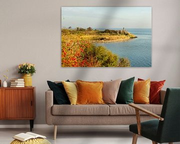 Grevelingenmeer met landtong van Helene van Rijn