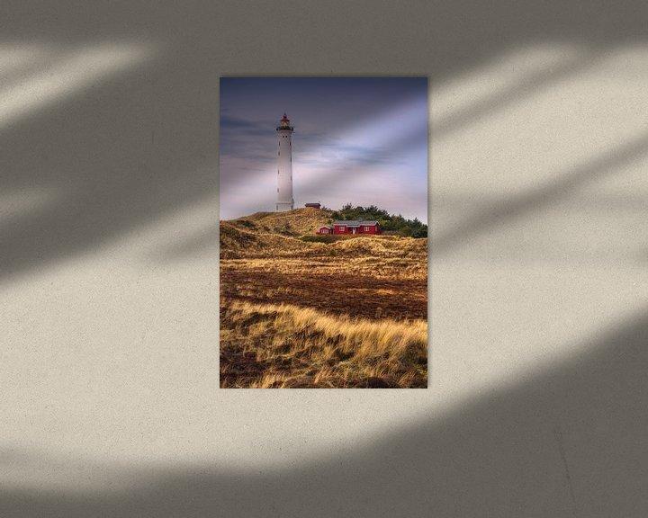 Sfeerimpressie: Duinlandschap bij de vuurtoren van Lyngvig Fyr van Dirk Wiemer