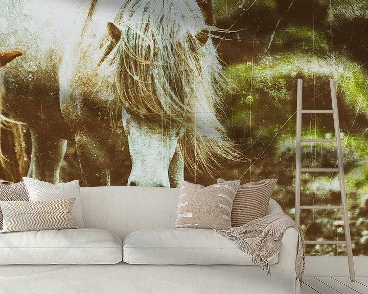 Beispiel fototapete: Rispað 3 von Islandpferde    IJslandse paarden   Icelandic horses