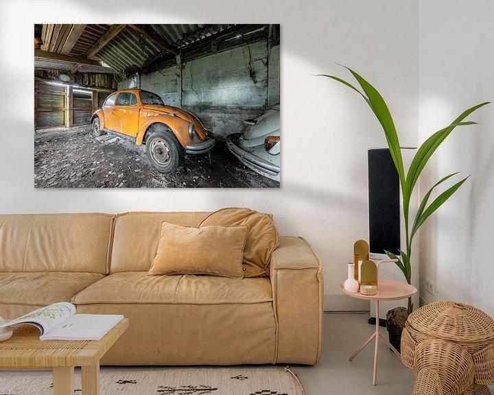 Beispiel: Orangefarbener Volkswagen Käfer von William Linders