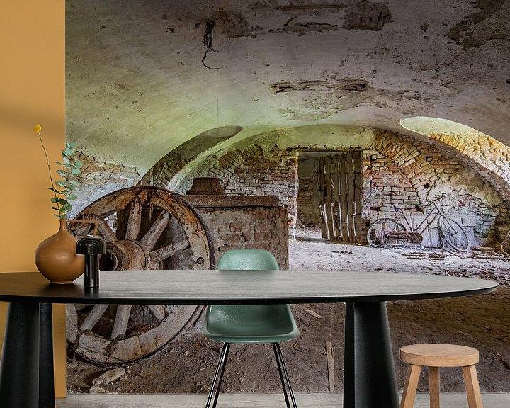 Beispiel fototapete: verlassener Keller von William Linders