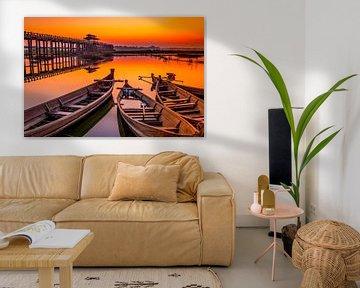 Sonnenaufgang U Bein Brücke von Antwan Janssen