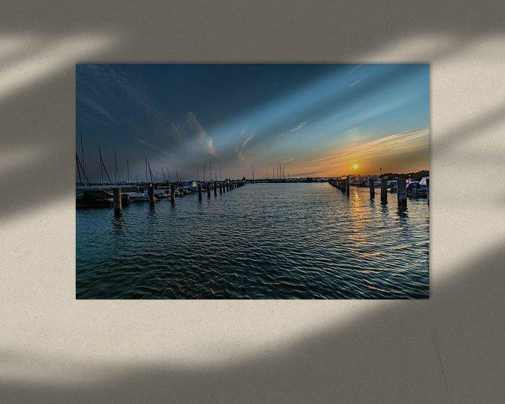 Beispiel: Sonnenuntergang am Hafen Altefähr, Insel Rügen von GH Foto & Artdesign