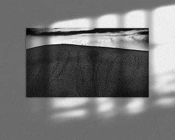 Wanderer auf dem Hverfell von Sam Mannaerts
