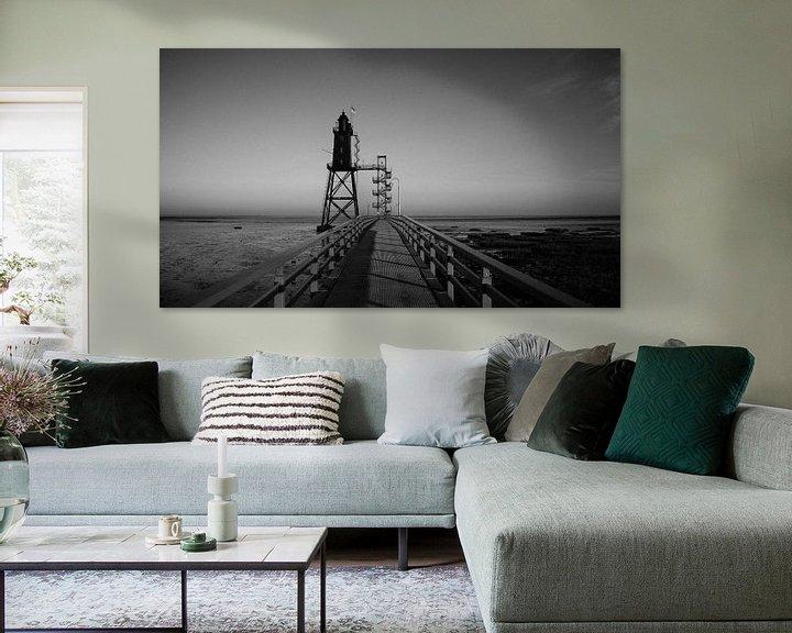 Beispiel: Leuchtturm Obereversand (Nordsee, Wattenmeer) von Denny Lerch