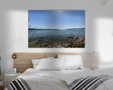 Segelschiff vor der Insel Vilm, Lauterbach auf Rügen von GH Foto & Artdesign