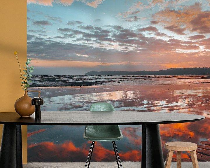 Beispiel fototapete: Sonnenaufgang Ostseebad Binz, Insel Rügen von Mirko Boy