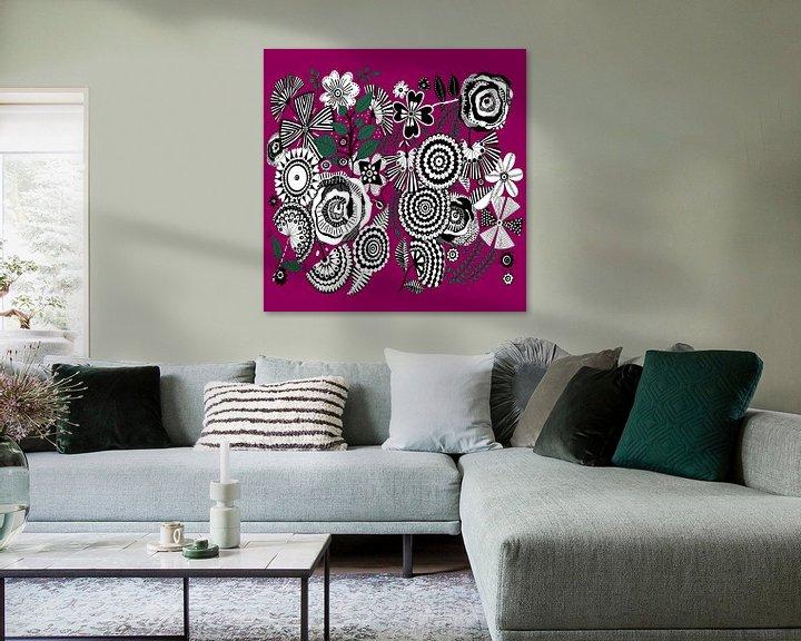 Beispiel: Blumen Muster in schwarz weiß von Patricia Piotrak