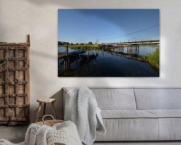 Brücher über dem Wreecher See - Rügischer Bodden Putbus auf Rügen von GH Foto & Artdesign