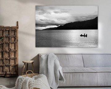 Silhouet van het tobameer von André van Bel