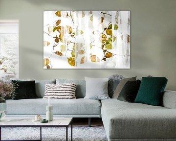 Pattern van herfstbladeren van Sam Mannaerts