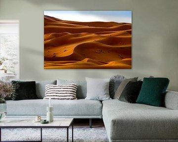 Wanderer in der Wüste von Sam Mannaerts