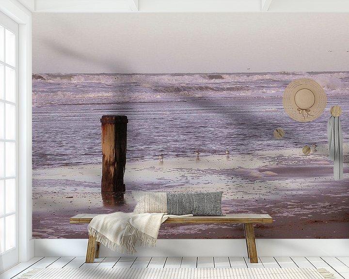 Sfeerimpressie behang: Paal boven water van Syl de Mooy