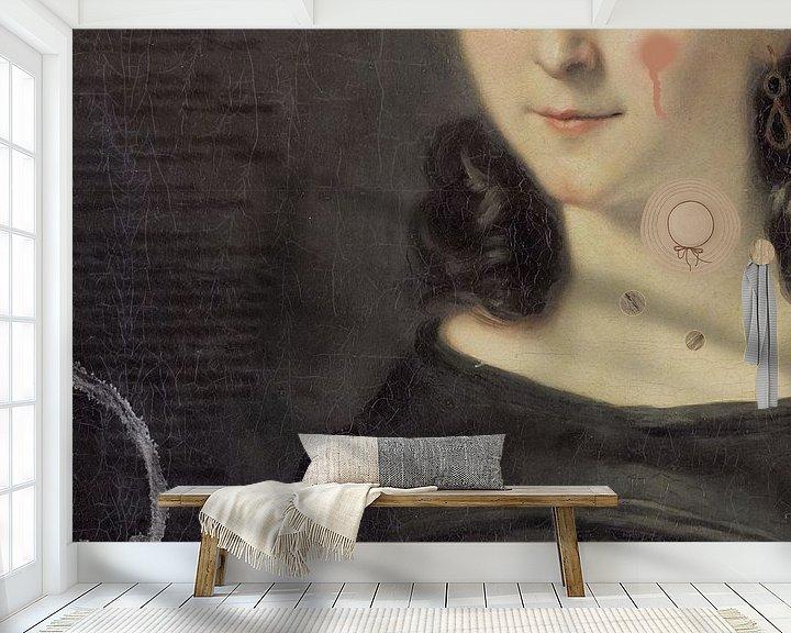 Sfeerimpressie behang: Anoniem van Mirjam Duizendstra