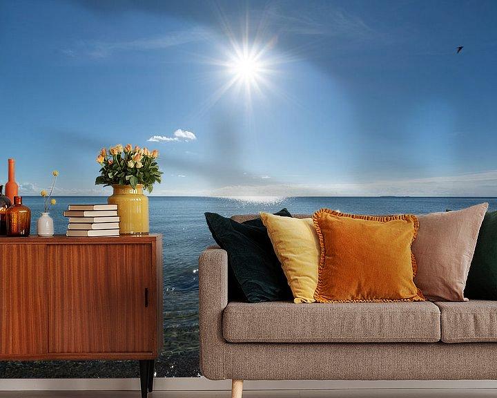 Beispiel fototapete: Sonnenstrahlen, Naturstrand Lobbe, Halbinsel Mönchgut auf Rügen von GH Foto & Artdesign