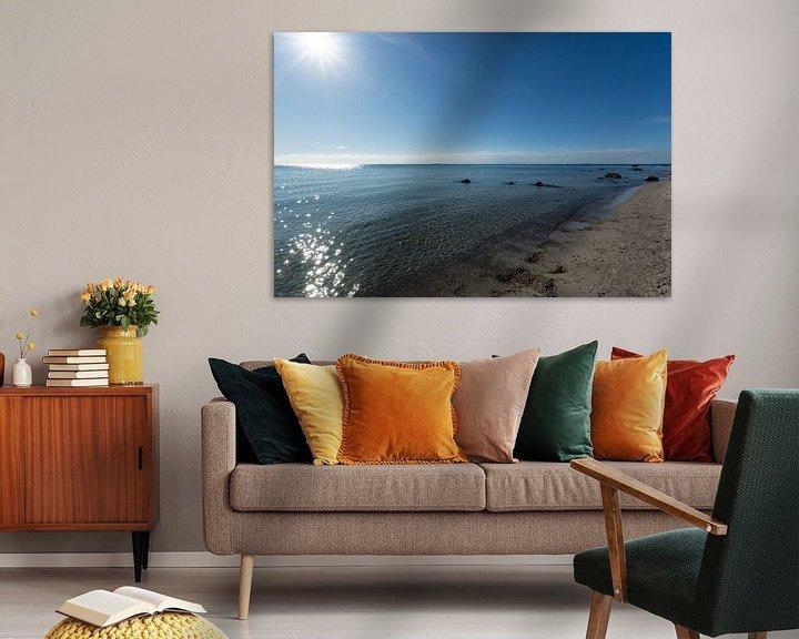 Beispiel: Sonnenstrahlen, Naturstrand Lobbe, Halbinsel Mönchgut auf Rügen von GH Foto & Artdesign