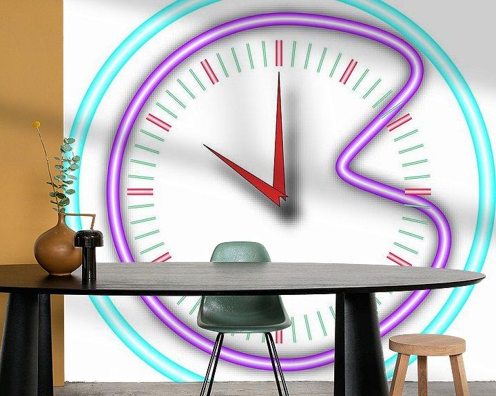 Beispiel fototapete: Zerbrochene Uhr von Piet Van Damme