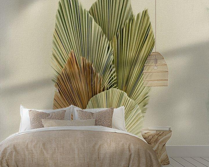Impression: Nature morte feuilles de palmier séchées sur Maurice Dawson