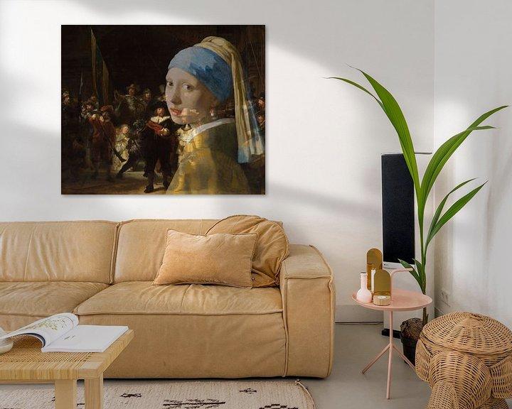 Beispiel: Girl with the Pearl Earring in der Nachtwache von Eigenwijze Fotografie