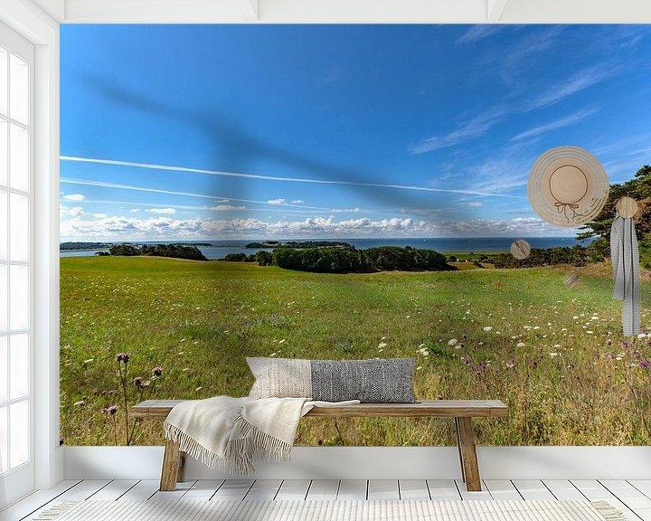 Beispiel fototapete: Groß Zicker, Blick zum Klein Zicker, den Zicker See und die Ostsee, Rügen von GH Foto & Artdesign