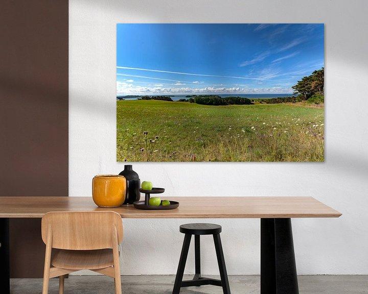 Beispiel: Groß Zicker, Blick zum Klein Zicker, den Zicker See und die Ostsee, Rügen von GH Foto & Artdesign