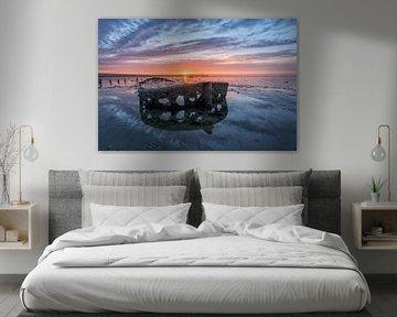 Sonnenuntergang Oostmahorn von Michel Jansen