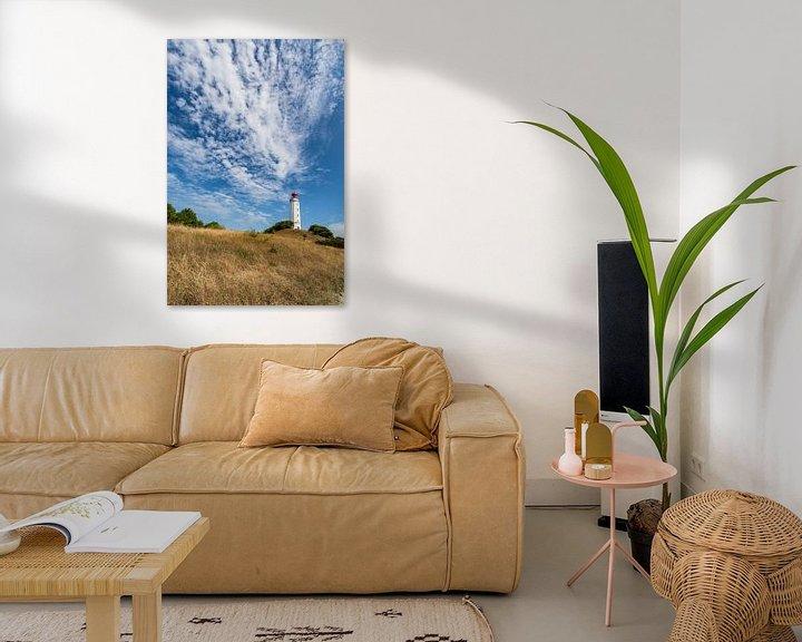 Beispiel: Schäfchenwolken über dem Leuchtturm auf der Insel Hiddensee von GH Foto & Artdesign