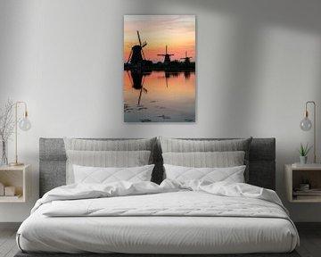 Sonnenuntergang Kinderdijk von Jeroen Kleiberg