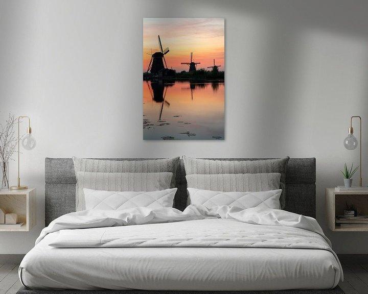 Sfeerimpressie: Zonsondergang Kinderdijk van Jeroen Kleiberg