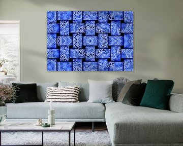 Weaves in Blues (Motif de tissage en bleu) sur Caroline Lichthart