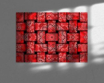 Weben in Rot (Webmuster in Rot) von Caroline Lichthart