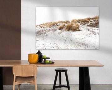 Ameland duinen in de sneeuw 01 van Everards Photography