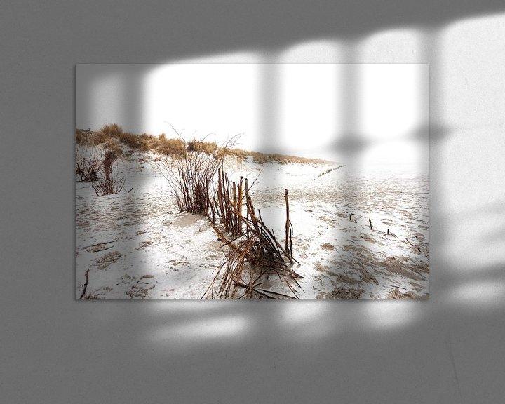 Sfeerimpressie: Ameland duinen in de sneeuw 04 van Everards Photography