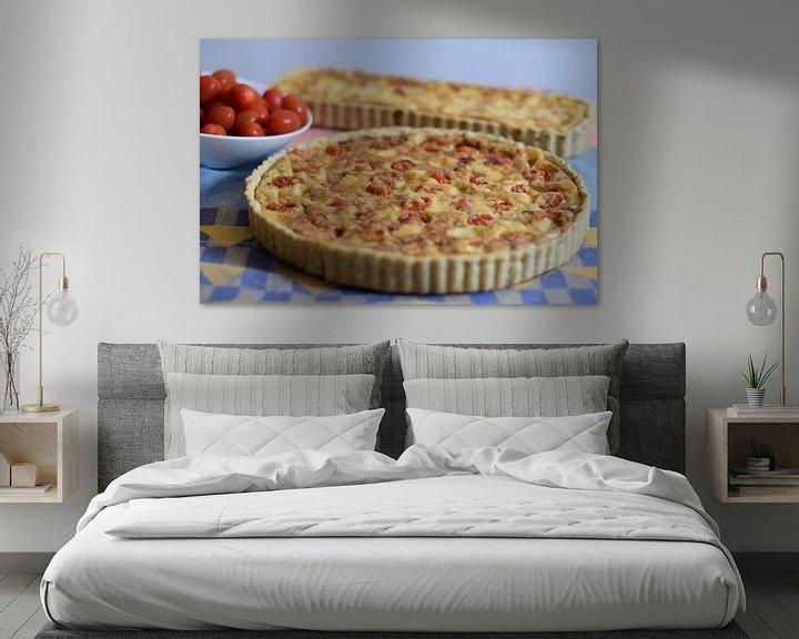 Sfeerimpressie: Cherrytomaatjes quiche van Annemieke Glutenvrij
