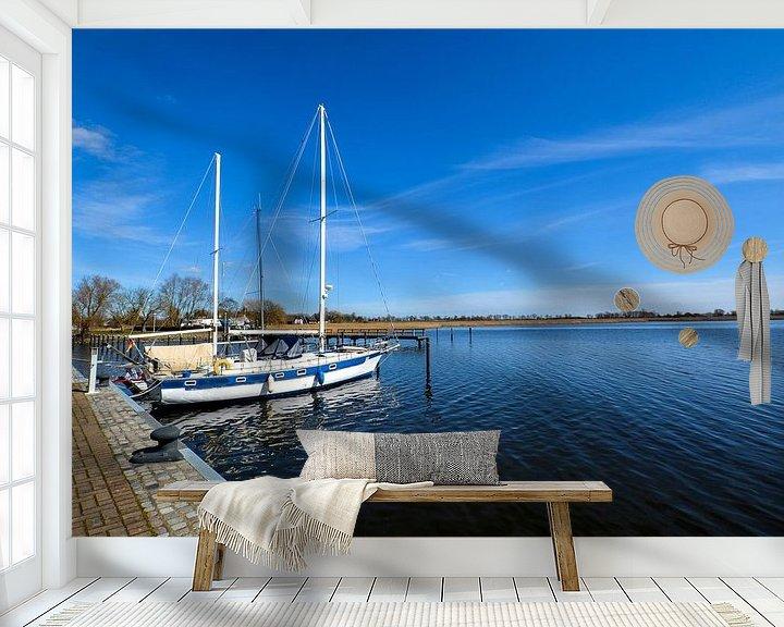 Beispiel fototapete: Segelschiffe im Hafen Puddemin auf Rügen von GH Foto & Artdesign