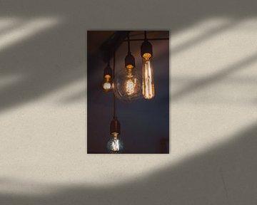 4 lampen aan het plafond van Robin van Steen