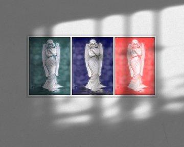 Drieluik drie engelen von Ina Hölzel
