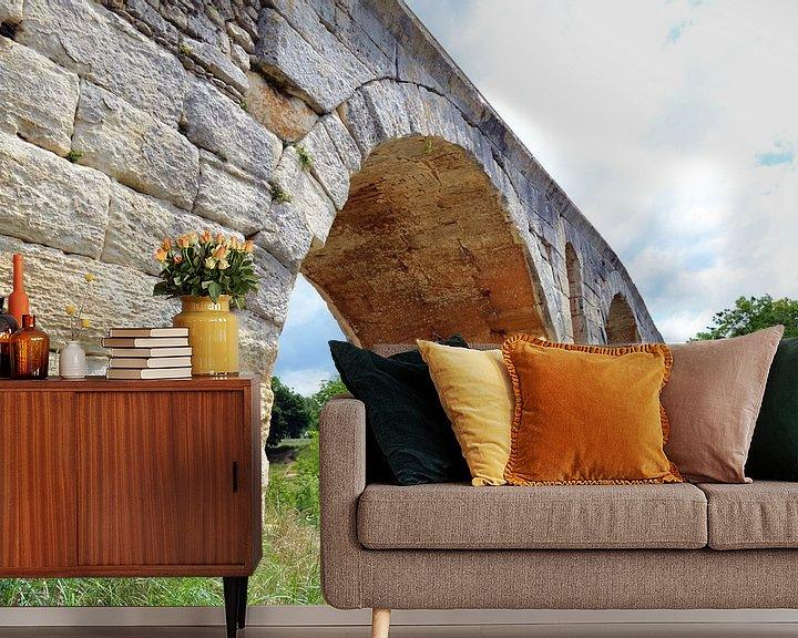 Impression: Pont Julien, pont romain à arcs sur le Calavon près d'Apt (France) sur Gert Bunt